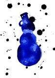 Silueta azul del muñeco de nieve libre illustration