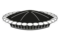 Silueta blanco y negro de la empanada caliente de la acción de gracias libre illustration