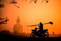 Silueta Buda Fotografía de archivo