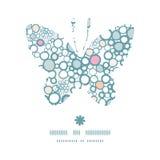 Silueta colorida de la mariposa de las burbujas del vector Imagen de archivo libre de regalías