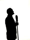 Silueta de Bob Hope Fotografía de archivo libre de regalías