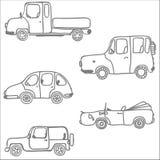 Silueta de coches Imágenes de archivo libres de regalías