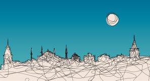 Silueta de Estambul Fotografía de archivo