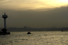 Silueta de Estambul imagen de archivo libre de regalías