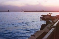 Silueta de Estambul en la puesta del sol Imagen de archivo libre de regalías
