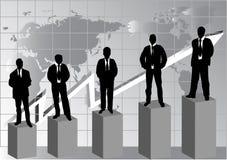 Silueta de hombres de negocios Imagen de archivo libre de regalías