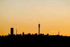 Silueta de Johannesburg imagenes de archivo