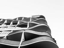 Silueta de líneas curvadas en Magdeburgo fotografía de archivo libre de regalías