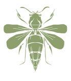 Silueta de la abeja Fotografía de archivo libre de regalías