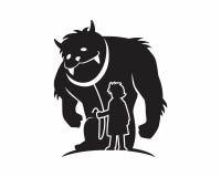 Silueta de la bestia del monstruo Foto de archivo libre de regalías