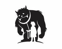 Silueta de la bestia del monstruo Imagen de archivo libre de regalías