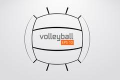 Silueta de la bola del voleibol stock de ilustración