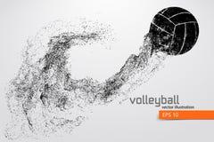 Silueta de la bola del voleibol