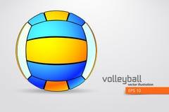 Silueta de la bola del voleibol Fotos de archivo libres de regalías