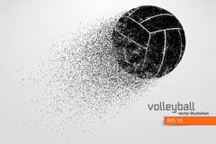 Silueta de la bola del voleibol Foto de archivo libre de regalías