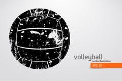 Silueta de la bola del voleibol Fotografía de archivo libre de regalías