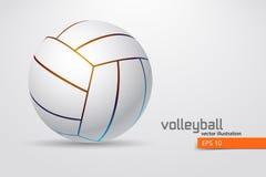 Silueta de la bola del voleibol libre illustration