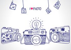 Silueta de la cámara Fotos de archivo libres de regalías