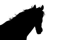 Silueta de la cabeza de caballo Imagenes de archivo