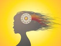 Silueta de la cabeza de la mujer libre illustration
