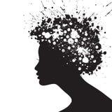 Silueta de la cara de la mujer Imagenes de archivo