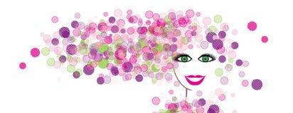 Silueta de la cara de la mujer Imágenes de archivo libres de regalías