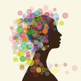 Silueta de la cara de la mujer para su diseño Imagen de archivo libre de regalías