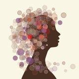 Silueta de la cara de la mujer para su diseño Imágenes de archivo libres de regalías