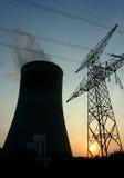 Silueta de la central eléctrica Imagen de archivo