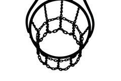 Silueta de la cesta del baloncesto Imagen de archivo libre de regalías