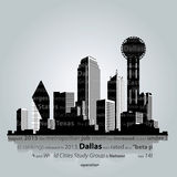 Silueta de la ciudad de Dallas Ilustración del vector Imagenes de archivo