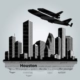 Silueta de la ciudad de Houston Foto de archivo