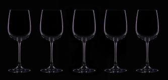 Silueta de la copa con la iluminación violeta Foto de archivo libre de regalías