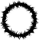 Silueta de la corona de espinas Imagen de archivo libre de regalías