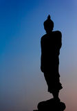 Silueta de Buda Fotografía de archivo libre de regalías