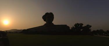 Silueta de la estatua de Mao del presidente en Changsha, provincia de Hunán, C Imagenes de archivo