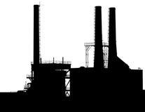 Silueta de la fábrica Foto de archivo libre de regalías