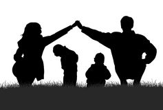 silueta de la familia Imágenes de archivo libres de regalías