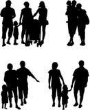 Silueta de la familia - ejemplo ilustración del vector