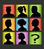 Silueta de la gente de los avatares Foto de archivo libre de regalías
