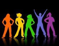 Silueta de la gente del baile