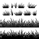 Silueta de la hierba, inconsútil Fotografía de archivo libre de regalías
