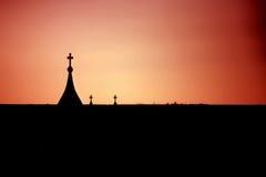 Silueta de la iglesia Imagen de archivo libre de regalías