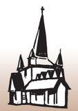 silueta de la iglesia libre illustration