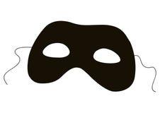 Silueta de la máscara stock de ilustración