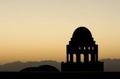 Silueta de la mezquita Imagen de archivo libre de regalías