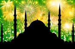 Silueta de la mezquita foto de archivo libre de regalías