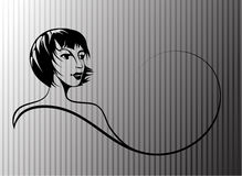 Silueta de la muchacha Imagen de archivo