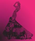 Silueta de la mujer Imagen de archivo libre de regalías