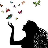 Silueta de la mujer libre illustration